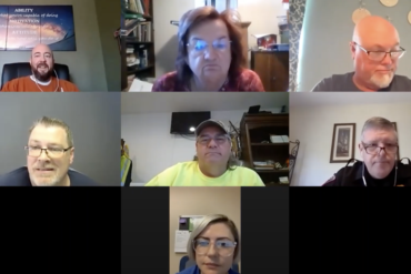 Zoom meeting featuring 6 Brimfield trustees and officials