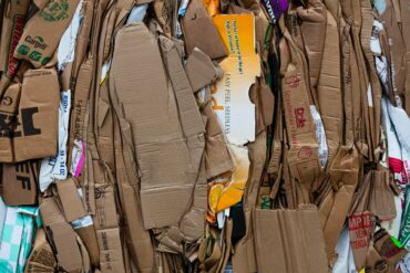 Image of cardboard recycling