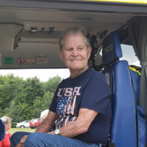 image of Lavern Ferrell sitting in a truck