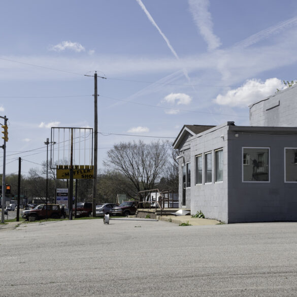 Picture of the site of the proposed marijuana dispensary