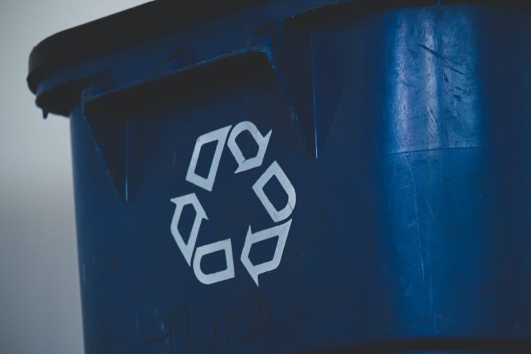 Image of a recycling bin