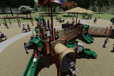 Rendering of the Randolph playground