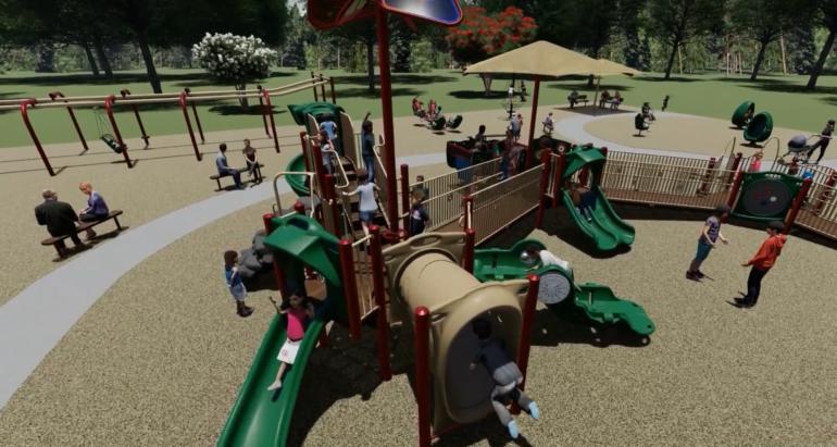 Rendering of the Randolph playground