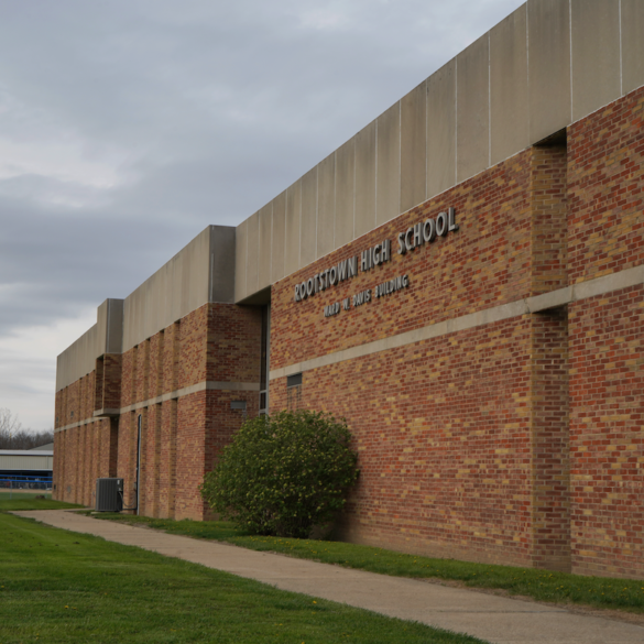 image of the front of rootstown high school building