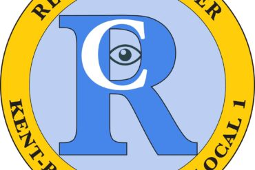 Image of the Record Courier union logo