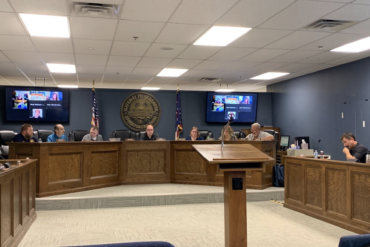 Image of Streetsboro City Council members seated around the dais